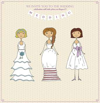 wedding day holiday invitation card background - vector gratuit(e) #135015