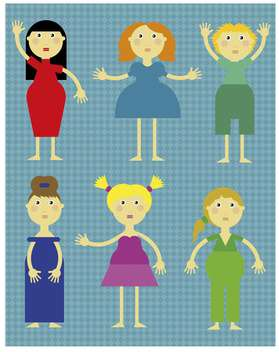 cartoon girl icons set illustration - vector gratuit(e) #135035