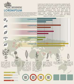 eco infographic vector with map of world - Kostenloses vector #135095
