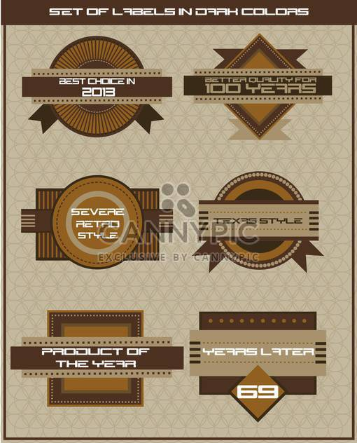 set of shop labels in retro style - Free vector #135105