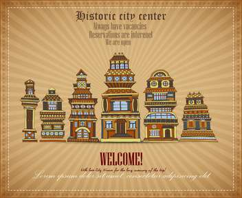 invitational document of historic city center - vector gratuit #135125