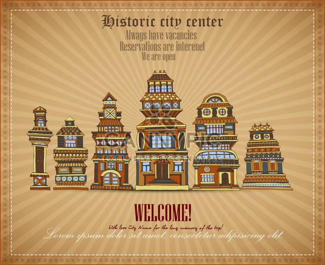 invitational document of historic city center - Free vector #135125