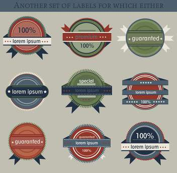 set of retro vector labels and badges background - бесплатный vector #135205
