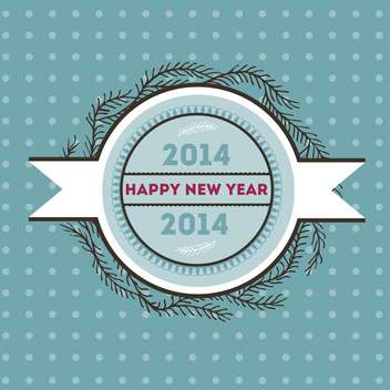 Happy new 2014 year vector card - бесплатный vector #135305
