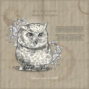 Vector owl from Great Encyclopedia of Animal Planet Earth - Free vector #135315