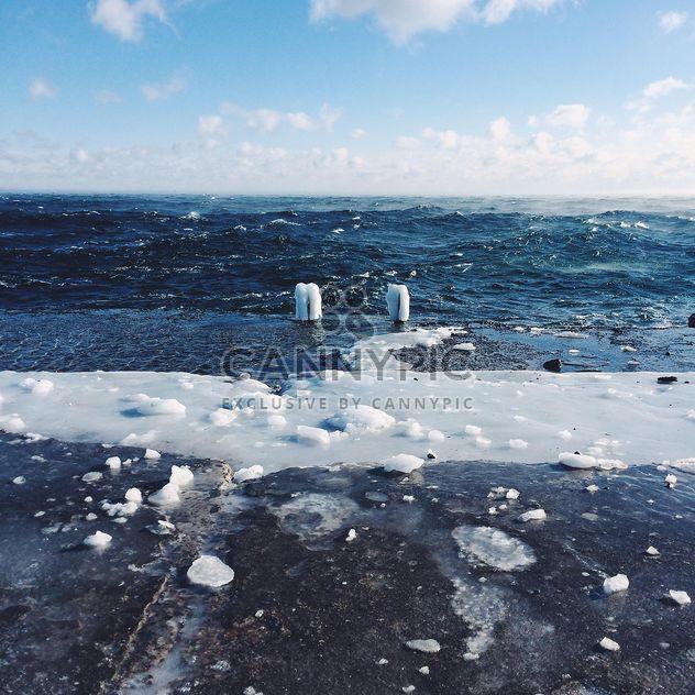 Море в морозную погоду - бесплатный image #136385