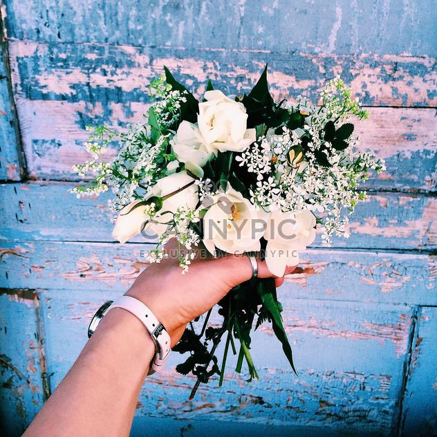 Bouquet of flowers in hand - Free image #136595