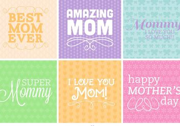 Mother's Day Type Backgrounds - vector #138665 gratis