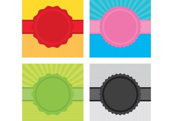 Ribbon Badge Vector Backgrounds - Free vector #138695