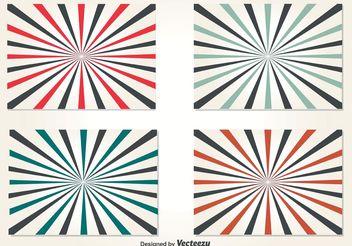 Retro Style Sunburst Background Vectors - Free vector #138725