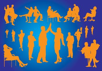 Office Silhouettes - Free vector #138885