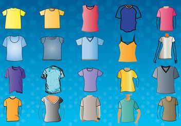 T-Shirt Template Vectors - Free vector #138895