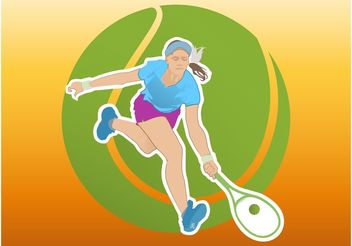 Tennis Girl - Free vector #138925