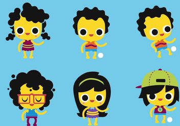 Kids Vector Pack - vector gratuit #139045