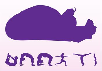 Yoga Silhouettes Set - Free vector #139055