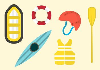 River Rafting Vector Set - Free vector #139115