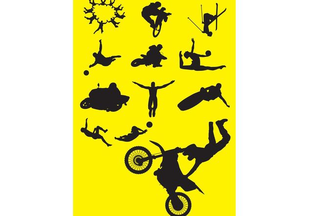 Sports silhouettes - Free vector #139155