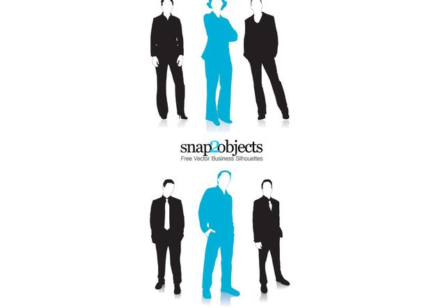 Business Vector People Silhouettes - бесплатный vector #139175