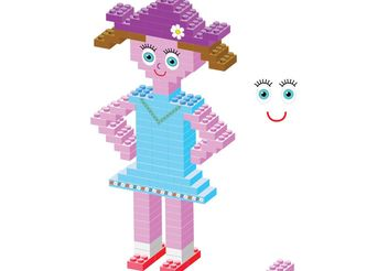Plastic bricks Girl - vector gratuit #139365