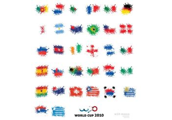 THE ART OF WORLD CUP FLAGS - vector gratuit #139435