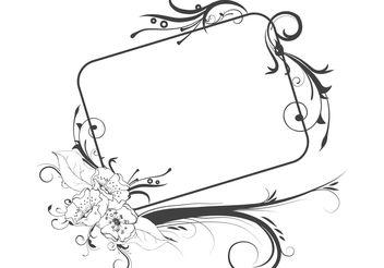 Vintage floral frame - Free vector #139465