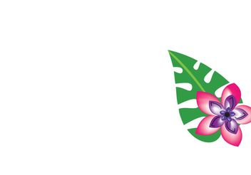 Tropical Leaf - Free vector #139675