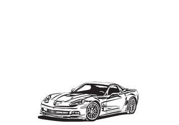 Corvette ZR1 Vector - vector #139685 gratis