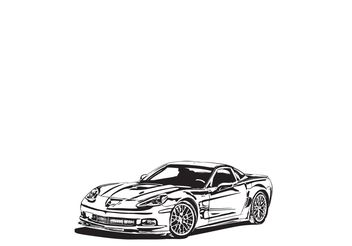 Corvette ZR1 Vector - Free vector #139685