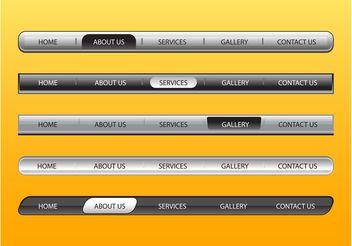 Web Navigation Bars Set - Free vector #139725