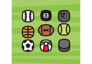 Sports Balls Icons - vector gratuit #139815