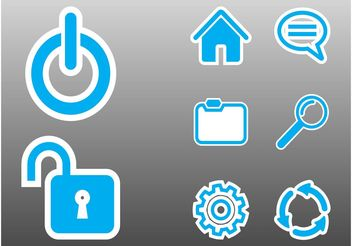 Computer Interface Icons - Kostenloses vector #139905
