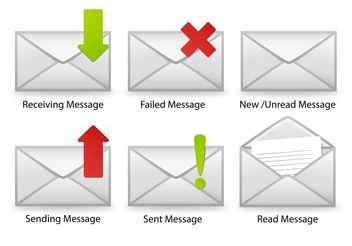 SMS Icon Vectors - Free vector #140065