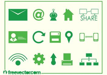 Vector Tech Icons - vector gratuit #140085