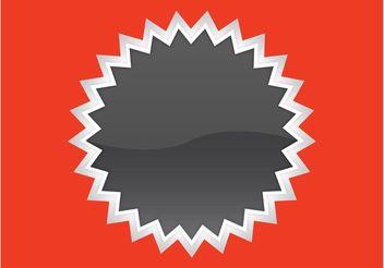 Starburst Sticker - Kostenloses vector #140155