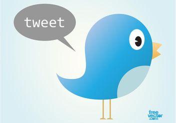 Twitter Bird - Free vector #140225