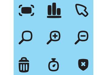 Web Vector Icons - Kostenloses vector #140265