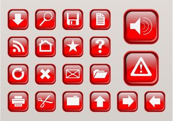 Computer Interface Buttons - Free vector #140285