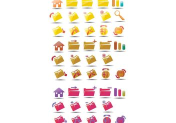 Vector icons set 3 - Free vector #140295