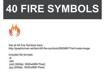 Fire Vector Symbols - Free vector #140345