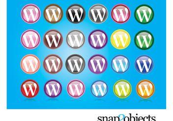 Wordpress Logos - Free vector #140375