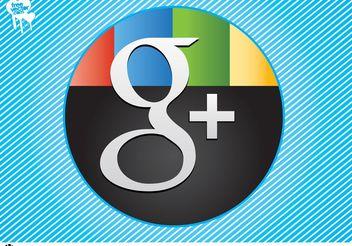 Google+ Vector - vector gratuit #140425