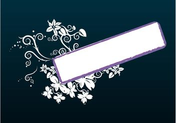 Floral Label Vector - Free vector #140615
