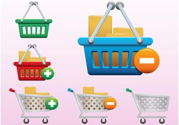 Shopping Icons - vector gratuit #140635