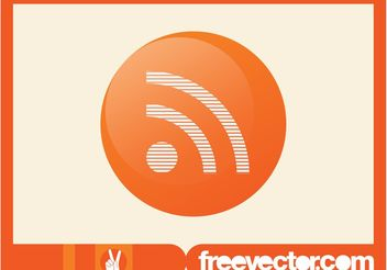 RSS Icon Vector - Free vector #140655