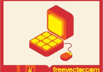 Computer Icon Vector - Kostenloses vector #140665