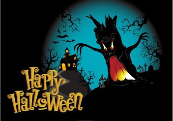 Happy Halloween Background - vector gratuit #140675