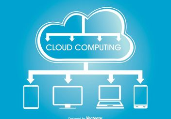 Cloud Computing Concept Illustration - Kostenloses vector #140835