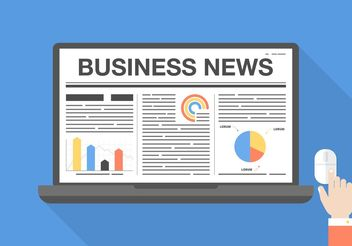 Free Business News Vector Graphic - бесплатный vector #140935