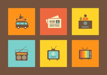 Free Retro Media Vector Icons - Free vector #140965