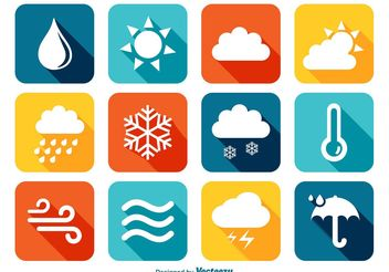 Colorful Weather Icons - Free vector #140985